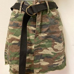 Army jean skirt (forever 21)